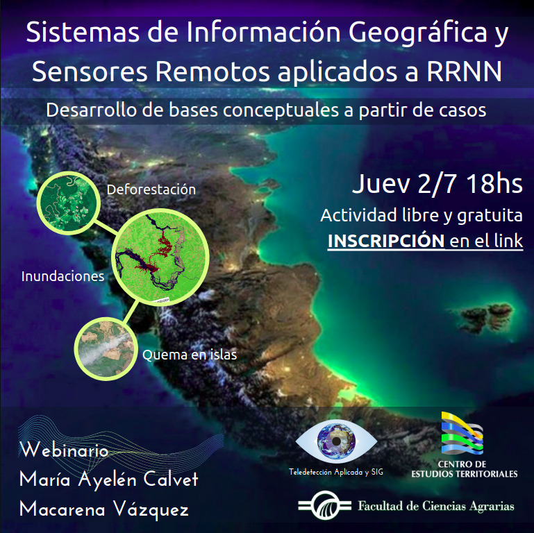 Webinario de Sistemas de Información Geográfica y Sensores Remotos aplicados a Recursos Naturales